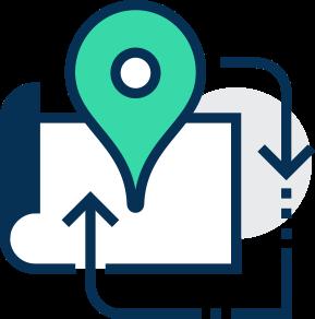 Icon of 3pl services. 3pl, 3pl warehouse, 3pl companies, 3rd party logistics, logistics, logistics provider, ecommerce fulfilment, fulfilment service,