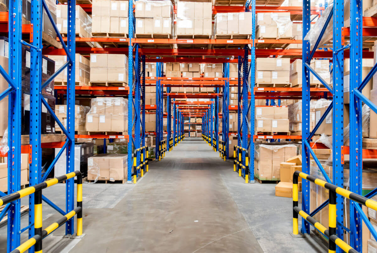 Well organised warehouse interior