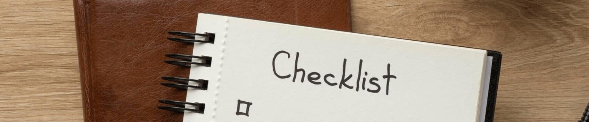 picture of checklist. Fulfilment services, 3rd party logistics, ecommerce fulfilment, e commerce warehouse, ecommerce fulfillment services, 3pl services, 3pl fulfilment